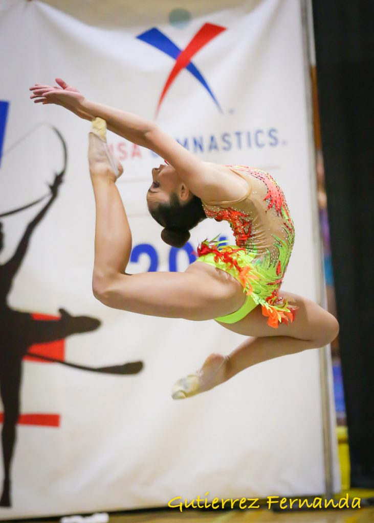 Fernanda Gutierrez, a 9th grader at Olympian High - invited to represent the USA as a member of Team Grace through the International Federation of Aesthetic Group Gymnastics