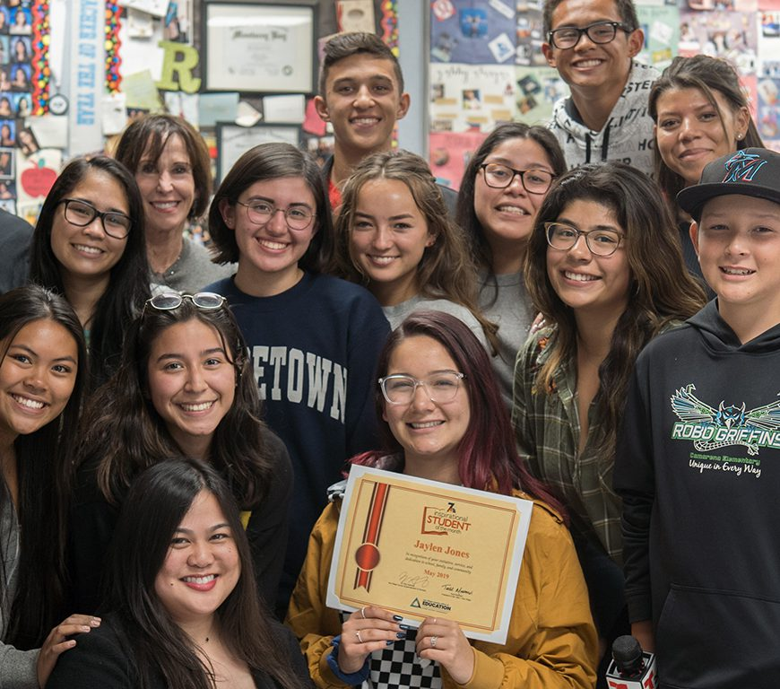 OLH Senior Jaylen Jones Named NBC San Diego Inspirational Student of the Month