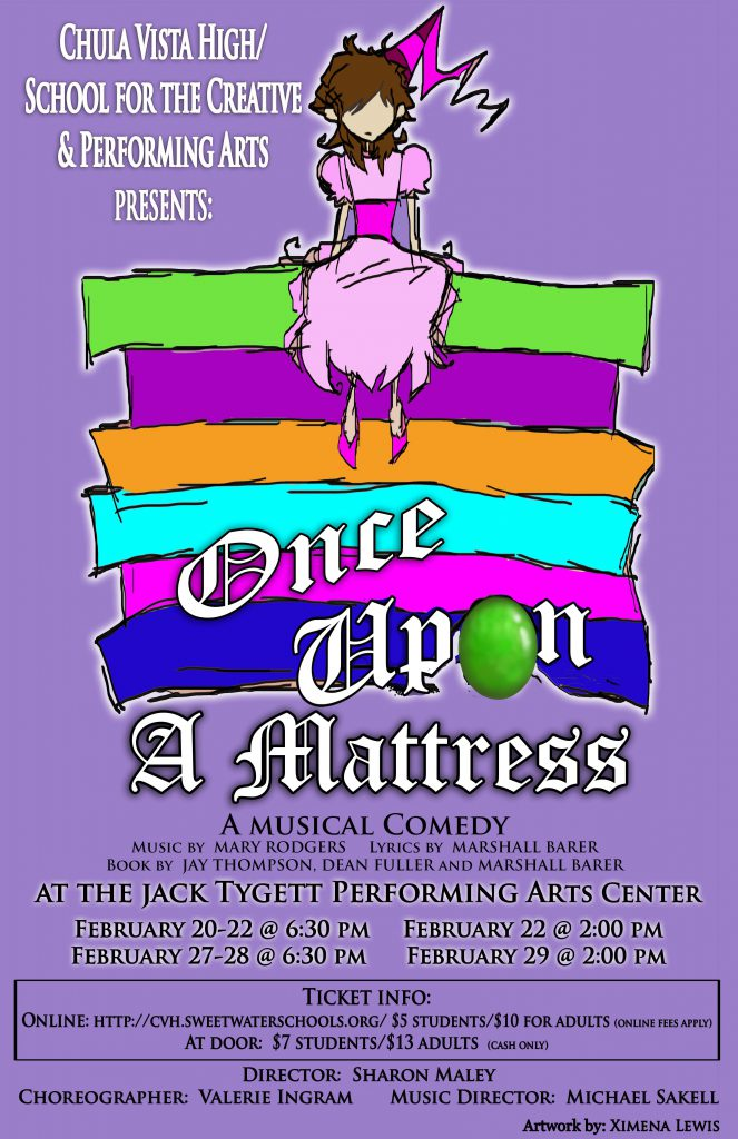 Ximena Lewis Poster Design Once Upon a Mattress - A Musical Comedy