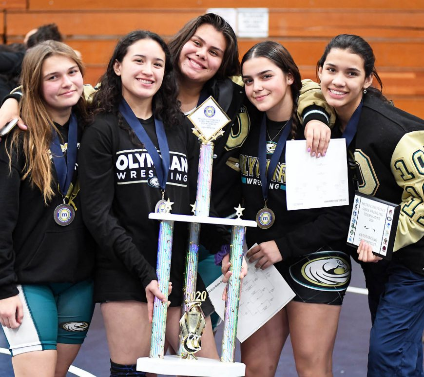 NewsClips-Feb2020 - Lady Eagles are Metro's inaugural girls wrestling tournament champions