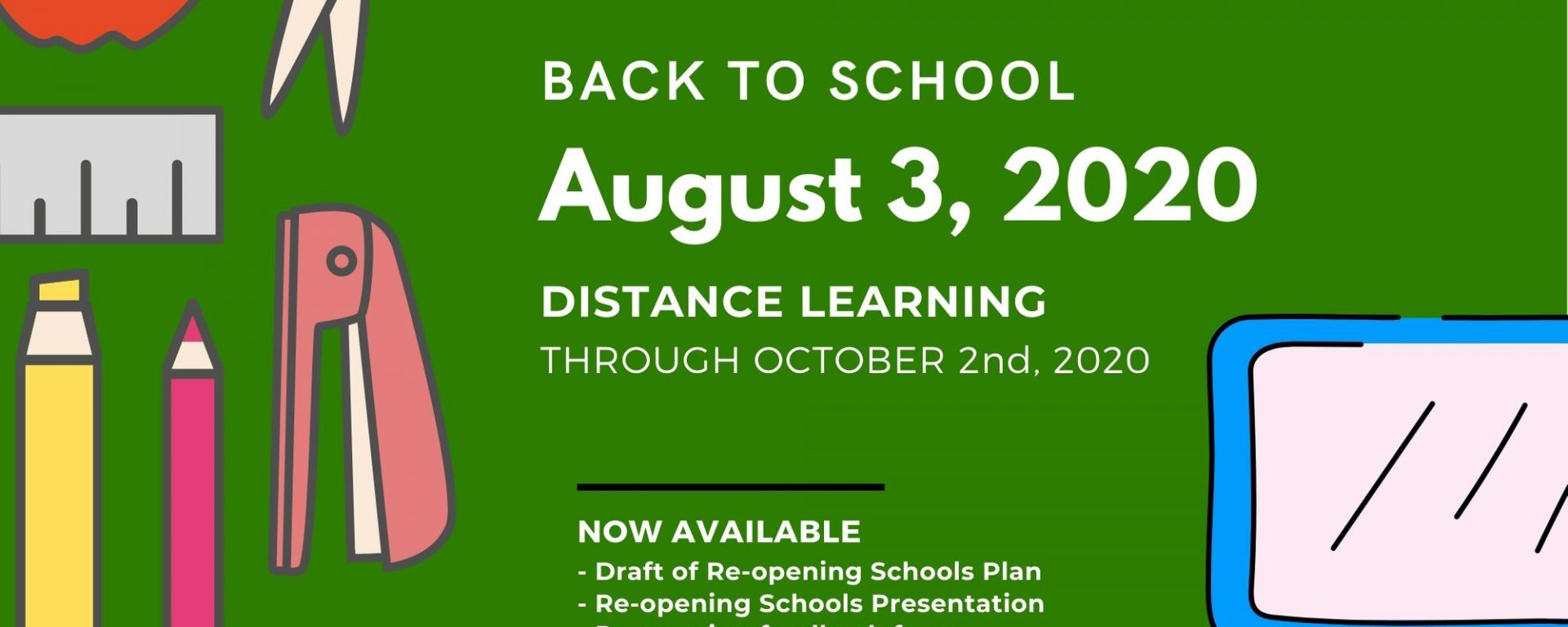 Back to School - Distance Learning - Oct2nd